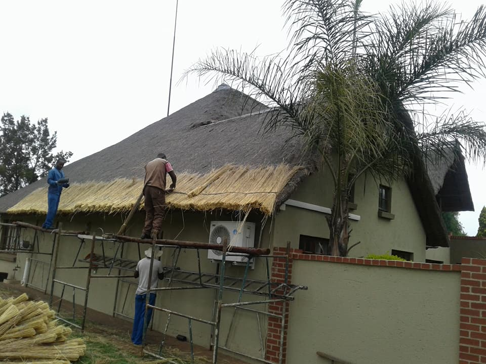 before thatch repairs